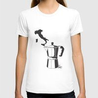 italian T-shirts featuring Italian coffee by LuiSegni
