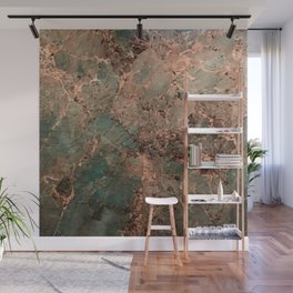 Marble Emerald Copper Blue Green Wall Mural
