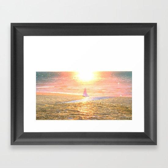 Sail dream Framed Art Print