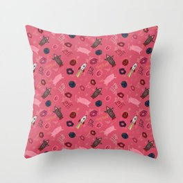 Jasy's Doodles Throw Pillow