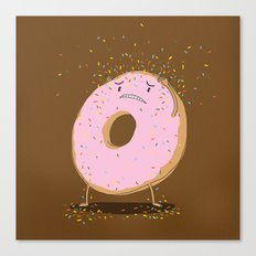 Itchy Donut Canvas Print