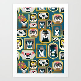 Cats wall of fame Art Print