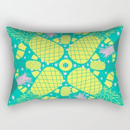 Pineapple Palooza Tropical Mandala Rectangular Pillow