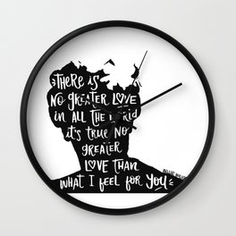 There is no greater love Wall Clock