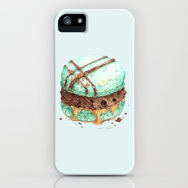 Mint Chocolate Macaron Cake iPhone Case