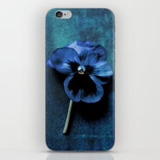 Just After Midnight Fine Art Photographic Textured Flower Print  iPhone & iPod Skin