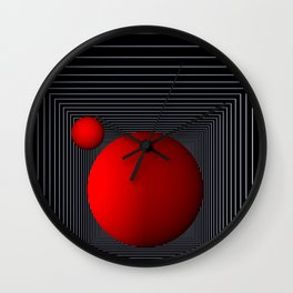 red white black -14- Wall Clock