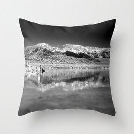 Mono Lake Black and white Throw Pillow