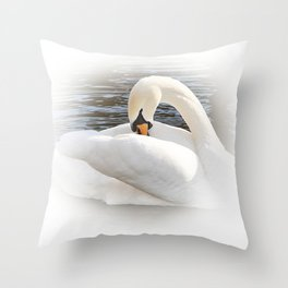 Schwan Throw Pillow