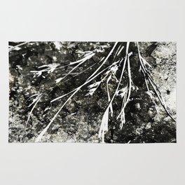 Grunge Monochrome Semi Abstract Nature Theme Rug