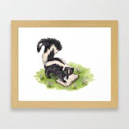 Studious Skunk Framed Art Print