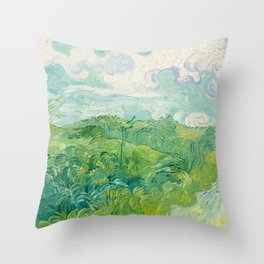 Vincent van Gogh Green Wheat Fields, Auvers 1890 Painting Throw Pillow
