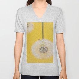 Whishes on yellow Unisex V-Neck