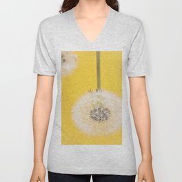 Whishes on yellow Unisex V-Neck