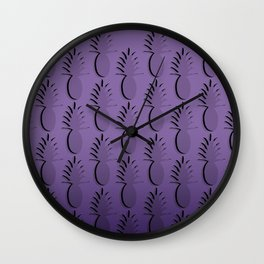 Pineapple Lines - purple Wall Clock