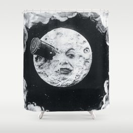 A Trip To The Moon Film Georges Méliès Shower Curtain