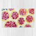 Sliced Grapefruits Watercolor by catcoq