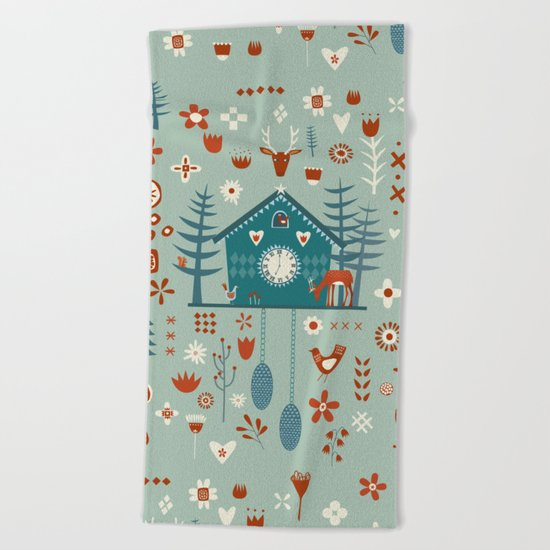 Cuckoo Clock Beach Towel