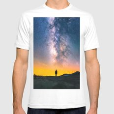 Heavens Above White Mens Fitted Tee MEDIUM