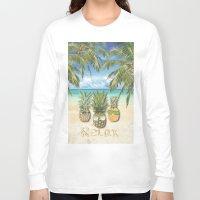 relax Long Sleeve T-shirts featuring relax by ulas okuyucu