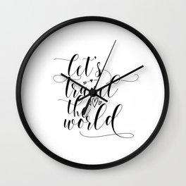 Typography Art Print, Quote Wall Art, Printable Art, Inspirational Quote, Art print Wall Clock