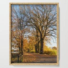 Autumn in Dolina Baryczy Serving Tray