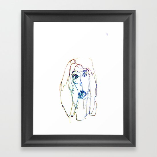 conflicted face Framed Art Print