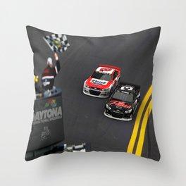 #Earnhardt Sr. & Jr. 1st Daytona 500 win. Throw Pillow