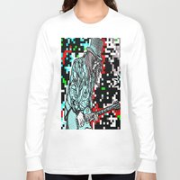 heavy metal Long Sleeve T-shirts featuring Abstract Heavy Metal Rocks by Saundra Myles