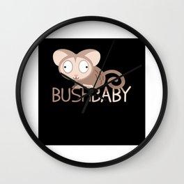 Bush Baby Galagos Galagonidae Monkey Wall Clock