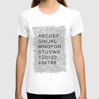 helvetica T-shirts featuring Helvetica Jumble by SpareType