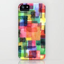 Watercolor blots plaid :) iPhone Case