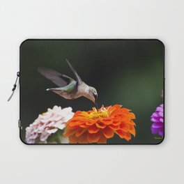 Hummingbird and Flowers Laptop Sleeve