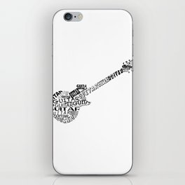 Guitar In Text iPhone Skin