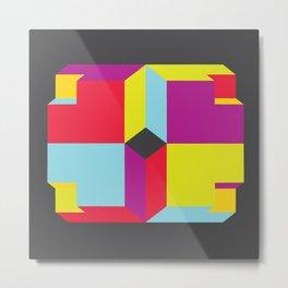 Cubey Metal Print