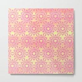 Summer Seashell Pattern Metal Print