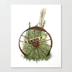 Wheel of Garden Canvas Print