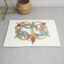Dragons and Snakes Entwined Eternal Rug