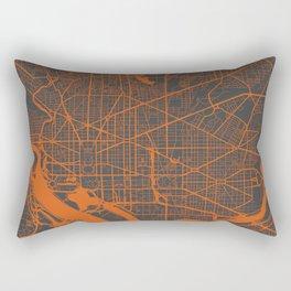 Washington Map orange Rectangular Pillow