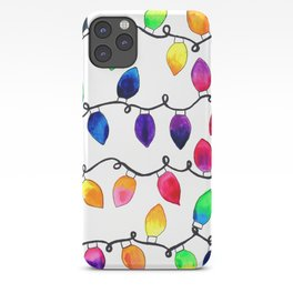 Colorful Christmas Holiday Light Bulbs iPhone Case