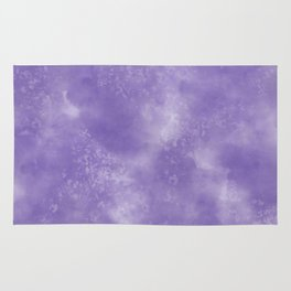 Abstract Watercolor in Ultra Violet Pantone color of year 2018 Rug