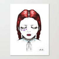 doll Canvas Prints featuring Doll by Helena Bowie Banshees