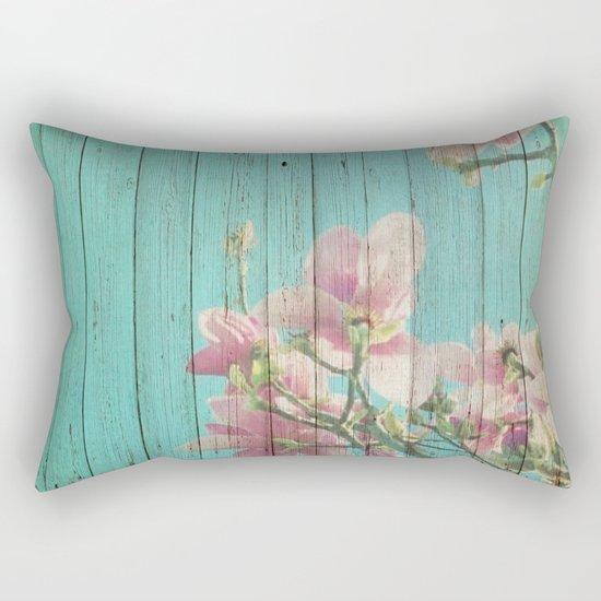 Sweet Flowers on Wood 08 Rectangular Pillow