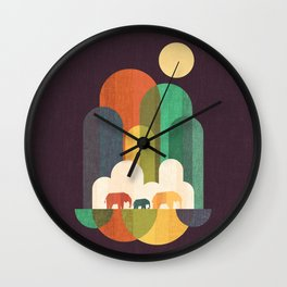 Elephant walk Wall Clock