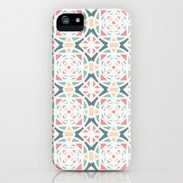 Pastel and shapes pattern iPhone Case