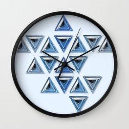 Blue Gradient Trillion Pattern Wall Clock
