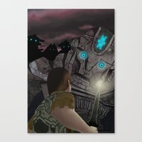 shadow of the colossus Canvas Prints featuring Shadow of the Colossus by MetroidHugs