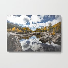 Reflection of Norway. || Mountain River. || Norges Natur. || Autumn Landscape. || Madara Travels. Metal Print