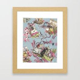 Scenes from the Market  Framed Art Print