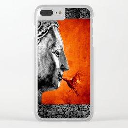 BUDDHA KISS - frame orange black version Clear iPhone Case
